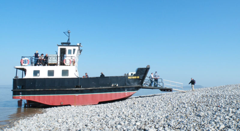 Beached Ferry on Flat Holm