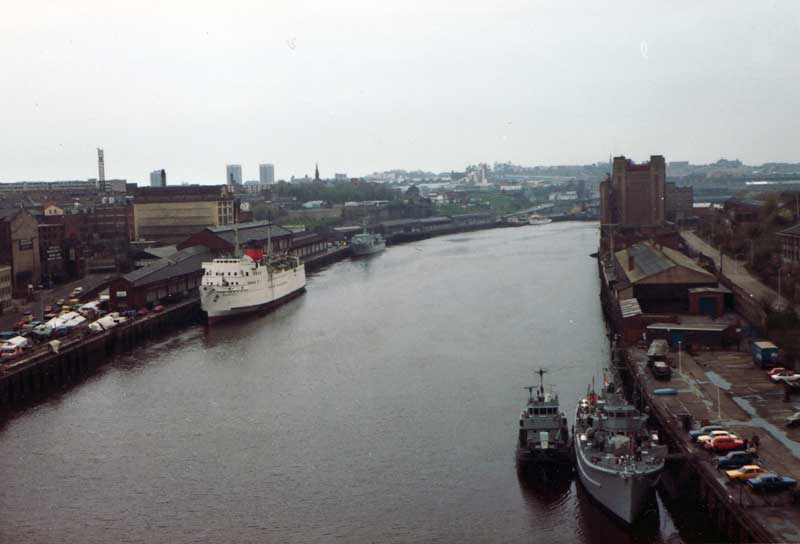 Newcastle Quayside before 1990s