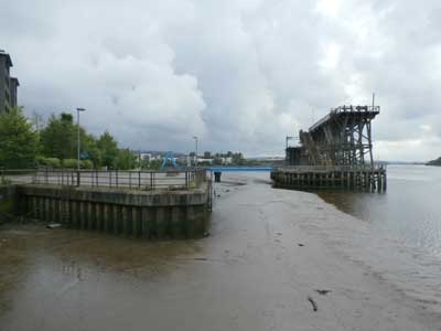 Dunston Staiths at low tide. Photo: Jill Payne