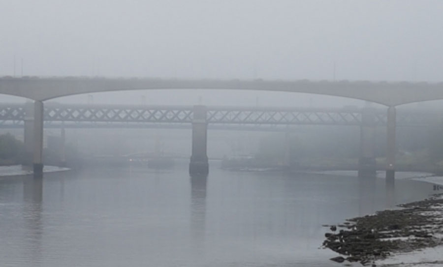 Fog on River Tyne